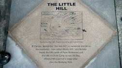 Sidewalk plaque in El Cerrito near Albany Hill, photo by Pierre La Plant