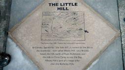 Sidewalk plaque in El Cerrito near Albany Hill, photo by Pierre La Plant