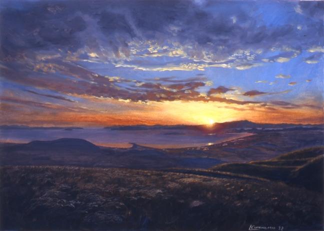 Albany-Hill-sunset